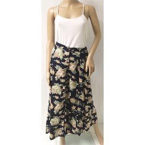 Brown & Blue Button Down Skirt Size Medium